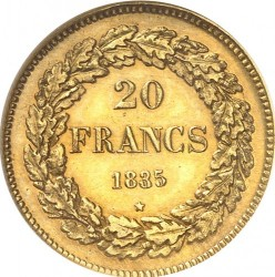 Moneta > 20franków, 1834-1841 - Belgia  - reverse