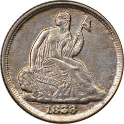 Moneda > ½dime, 1837-1838 - Estados Unidos  (Medio dime, libertad sentada) - obverse