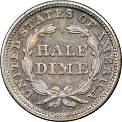 Coin > ½dime, 1838-1853 - USA  (Seated Liberty Half Dime) - reverse