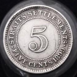 Moneta > 5centesimi, 1871-1901 - Insediamenti dello Stretto  - reverse