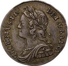 Monēta > 2pensi, 1729-1760 - Lielbritānija  - obverse