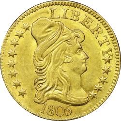 Münze > 5Dollar, 1795-1807 - USA  (Liberty Cap - Half Eagle) - obverse