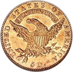 Moneda > 5dólares, 1813-1834 - Estados Unidos  - reverse