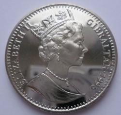 Moneta > 1corona, 1996 - Gibilterra  (XXVI Giochi olimpici estivi, Atlanta 1996 - Fiamma olimpica) - obverse