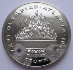 Moneta > 1corona, 1996 - Gibilterra  (XXVI Giochi olimpici estivi, Atlanta 1996 - Fiamma olimpica) - reverse
