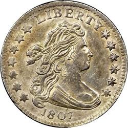 Монета > 1дайм, 1798-1807 - США  (Draped Bust Dime) - obverse