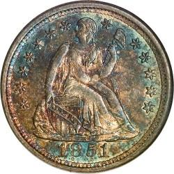 Monēta > 1dime, 1838-1853 - ASV  (Seated Liberty Dime) - obverse
