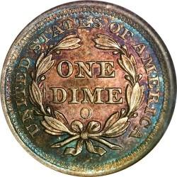 Monēta > 1dime, 1838-1853 - ASV  (Seated Liberty Dime) - reverse