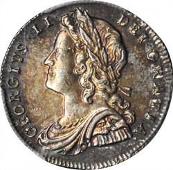 Монета > 6пенсов, 1728-1741 - Великобритания  - obverse