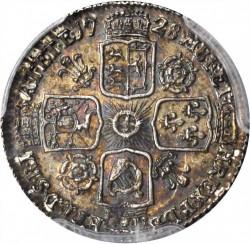 Монета > 6пенсов, 1728-1741 - Великобритания  - reverse