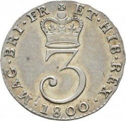Coin > 3pence, 1795-1800 - United Kingdom  - reverse
