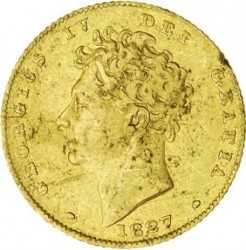 Coin > ½sovereign, 1826-1828 - United Kingdom  - obverse