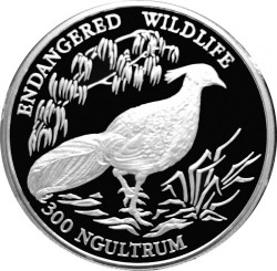 Coin > 300ngultrums, 1994 - Bhutan  (Endangered Wildlife - Pheasant) - reverse