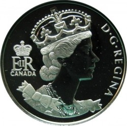 Moneda > 50 centavos, 2002 - Canadá  (50th Anniversary - Accession of Queen Elizabeth II /EIIR/) - obverse