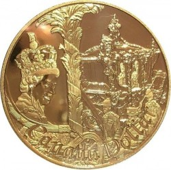 Moneta > 1 doleris, 2002 - Kanada  (50th Anniversary - Accession of Queen Elizabeth II) - reverse
