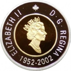 Moneta > 2 doleriai, 2002 - Kanada  (50th Anniversary - Succession of Queen Elizabeth II) - obverse