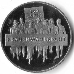 Moeda > 20euro, 2019 - Alemanha  (100th Anniversary - Women's Suffrage) - reverse