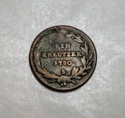 Монета > 1крейцер, 1780 - Австрія  (Марія Тереза) - reverse