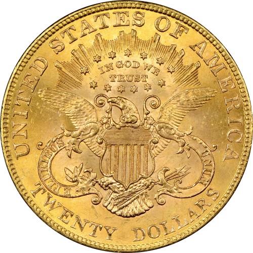 20 دلار 1877-1908 - Double Eagle, ایالات متحده آمریکا - بها - uCoin.net