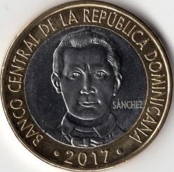 Moneda > 5pesos, 2017 - República Dominicana  - obverse