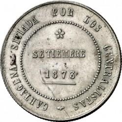 Монета > 5песет, 1873 - Испания  (Кантональная революция в Картахене) - obverse