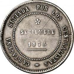 Coin > 5pesetas, 1873 - Spain  (Cantonal Revolution) - obverse