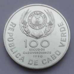 Moneta > 100eskudų, 1990 - Žaliasis Kyšulys  (Pope's Visit) - obverse