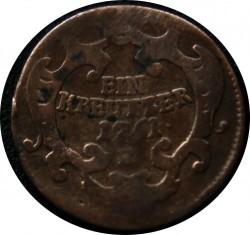 Монета > 1крейцер, 1761 - Австрія  (Марія Тереза) - obverse