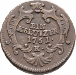 Moneta > 1krajcar, 1761 - Austria  (Maria Teresa) - reverse