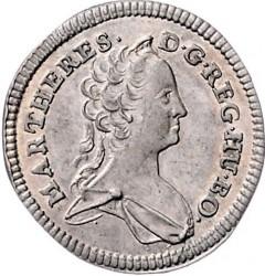 Münze > 1Kreuzer, 1742-1745 - Österreich   (5 Wappen auf der Rückseite) - obverse