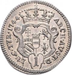 Münze > 1Kreuzer, 1742-1745 - Österreich   (5 Wappen auf der Rückseite) - reverse
