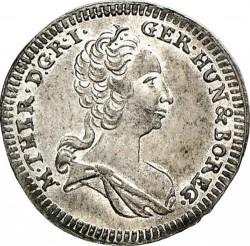 Moneta > 1kreuzer, 1749-1754 - Austria  (Maria Teresa - Orzeł z herbem Styrii) - obverse