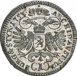 Moneta > 1kreuzer, 1749-1754 - Austria  (Maria Teresa - Orzeł z herbem Styrii) - reverse