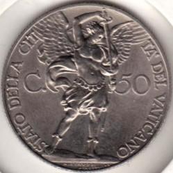 Monedă > 50centesimi, 1933 - Vatican  - reverse