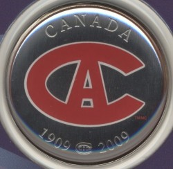 Coin > 50 cents, 2009 - Canada  (100th Anniversary - Montreal Canadiens (1915-1916)) - obverse