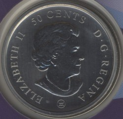 Coin > 50 cents, 2009 - Canada  (100th Anniversary - Montreal Canadiens (1915-1916)) - reverse