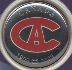 Münze > 50Cent, 2009 - Kanada   (100th Anniversary - Montreal Canadiens (1915-1916)) - reverse