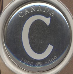 Moneta > 50centesimi, 2009 - Canada  (100th Anniversary - Montreal Canadiens (1909-1910)) - obverse