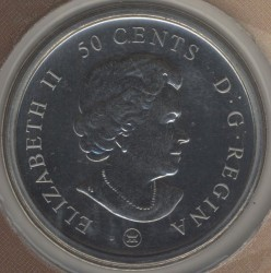 Coin > 50cents, 2009 - Canada  (100th Anniversary - Montreal Canadiens (1909-1910)) - reverse