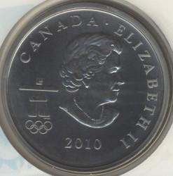 Монета > 50центів, 2010 - Канада  (XXI winter Olympic Games, Vancouver 2010 - Miga, Skeleton) - obverse