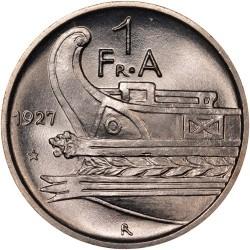 سکه > 1فرانگآر, 1927-1928 - آلبانی  - reverse