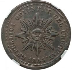 Moneta > 40sentimų, 1844 - Urugvajus  (Male Sunface) - obverse