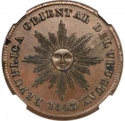Moneda > 20céntimos, 1843-1844 - Uruguai  - obverse