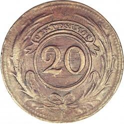Monēta > 20sentimo, 1854-1855 - Urugvaja  - reverse