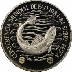 Moneta > 20nuovipesos, 1984 - Uruguay  (Conferenza mondiale della pesca) - reverse