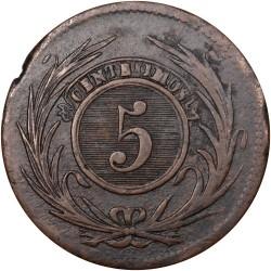 Moneda > 5céntimos, 1840-1854 - Uruguay  - reverse