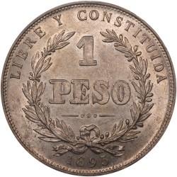 Moeda > 1peso, 1878-1895 - Uruguai  - reverse