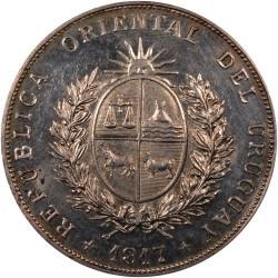 Moeda > 1peso, 1917 - Uruguai  - obverse
