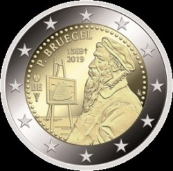 Moneta > 2 euro, 2019 - Belgio  (450th Anniversary - Death of Pieter Bruegel the Elder) - obverse