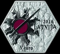 Монета > 5евро, 2016 - Латвия  (100 лет Митавской операции) - reverse